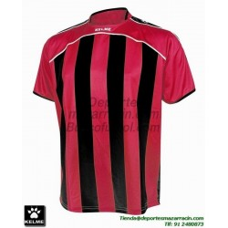 KELME CAMISETA LIGA RAYAS color ROJO NEGRO Futbol Manga Corta talla equipacion hombre niño 78326-145