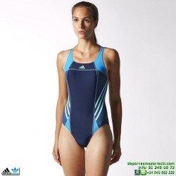 Adidas Bañador Natacion Mujer I INS ATH 1PC Azul marino