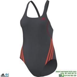 Adidas Bañador Natacion Mujer I S 1PC Negro-Rosa INFINITEX M67923