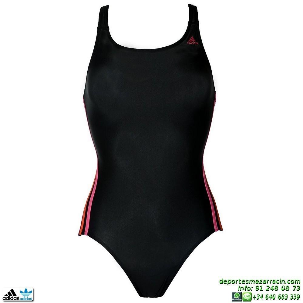bañador adidas i s 1pc natacion chica negro-rosa m67253 infinitex