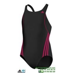Adidas Bañador Natacion Chica I S 1PC G Negro-Rosa INFINITEX M67268