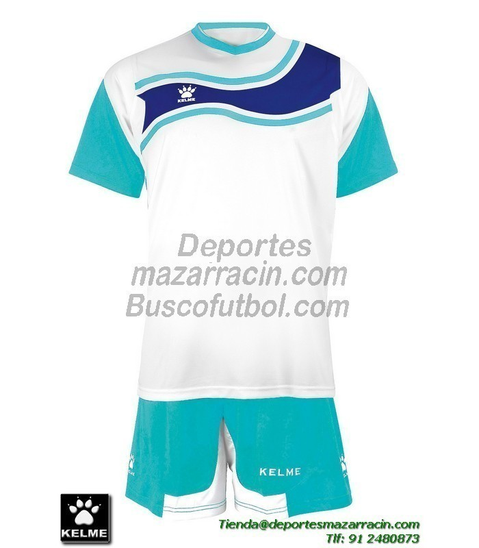 5a81061949565 KELME CONJUNTO SURINAME SET color BLANCO AZUL CELESTE Futbol camiseta  pantalon talla equipacion hombre niño 78417-62