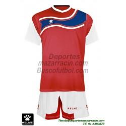 KELME CONJUNTO SURINAME SET color ROJO BLANCO Futbol camiseta pantalon talla equipacion hombre niño 78417-129