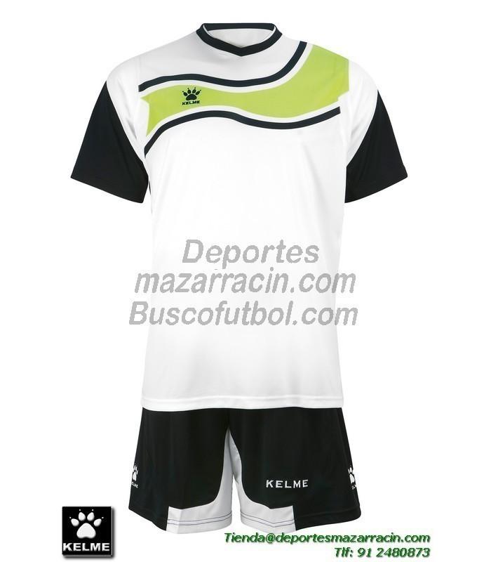 a3fcbef737c KELME CONJUNTO SURINAME SET color BLANCO NEGRO Futbol camiseta pantalon  talla equipacion hombre niño 78417-61