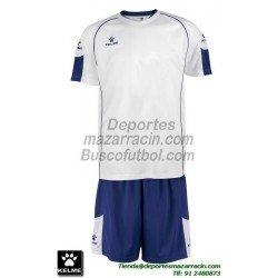 KELME CONJUNTO MARFIL SET color BLANCO AZUL Futbol camiseta pantalon talla equipacion hombre niño 78429-171