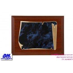 Placa de Homenaje 97636 chapa madera bolsa economica diferentes tamaños premio pallart grabado laser personalizado