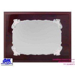 Placa de Homenaje 97251 chapa madera bolsa economica diferentes tamaños premio pallart grabado laser personalizado