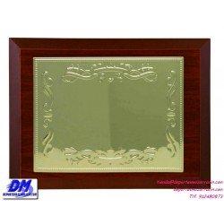 Placa de Homenaje 97606 chapa madera economica diferentes tamaños premio pallart grabado laser personalizado