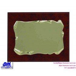 Placa de Homenaje 97608 chapa madera economica diferentes tamaños premio pallart grabado laser personalizado