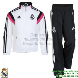 CHANDAL REAL MADRID para NIÑO 2014-2015 BLANCO REAL PR SUIT Y
