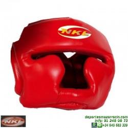 Casco Boxeo CERRADO NKL Piel Rojo CAS.CER