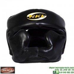 Casco Boxeo CERRADO NKL Piel Negro CAS.CER