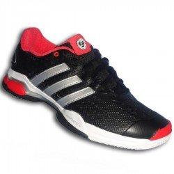 Adidas Zapatilla de tenis BARRICADE TEAM 4 Negra ROLAN GARROS suela espiga padel personalizar poner nombre bandera M21705