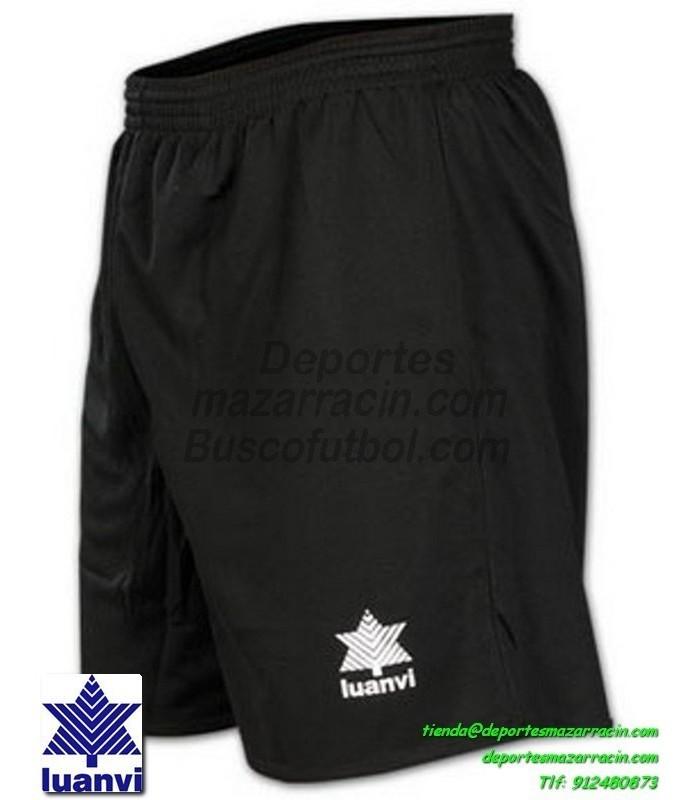 LUANVI PANTALON CORTO STANDARD Futbol color NEGRO equipacion SPORT talla  hombre niño 05689-0044 a98db7602c923