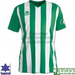 LUANVI CAMISETA NEW LISTADA RAYAS Futbol color VERDE BLANCO Manga Corta talla equipacion hombre niño 07248-0050