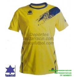LUANVI CAMISETA PLAY Futbol color AMARILLO Manga Corta talla equipacion hombre niño 07235-0027