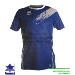 LUANVI CAMISETA PLAY Futbol color AZUL ROYAL Manga Corta talla equipacion hombre niño 07235-1502