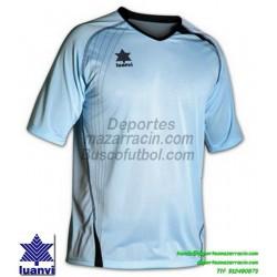 LUANVI CAMISETA MASTER Futbol color AZUL CELESTE Manga Corta talla equipacion hombre niño 05594-1602