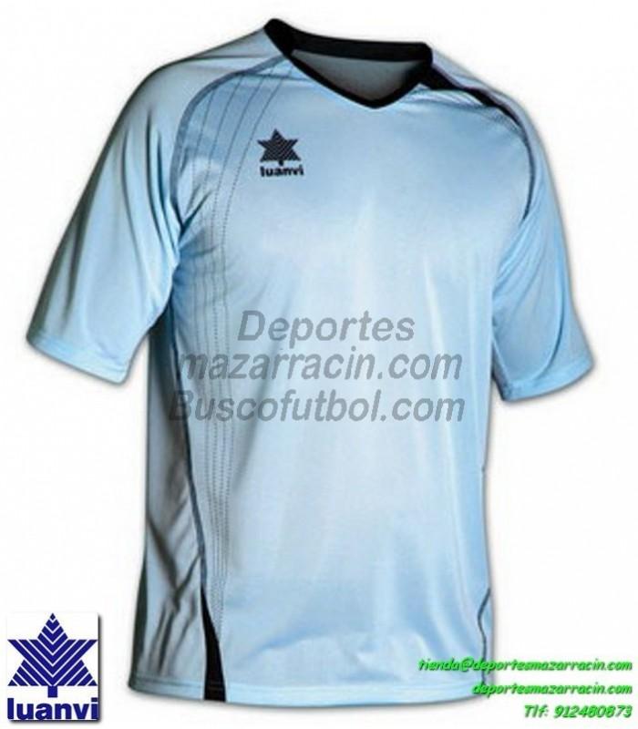 29ae1c620c92e LUANVI CAMISETA MASTER Futbol color AZUL CELESTE Manga Corta talla  equipacion hombre niño 05594-1602