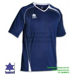 LUANVI CAMISETA MASTER Futbol color AZUL MARINO Manga Corta talla equipacion hombre niño 05594-0330