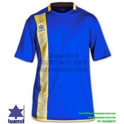 LUANVI CAMISETA RIVER Futbol color AZUL ROYAL Manga Corta talla equipacion hombre niño 06162-0013