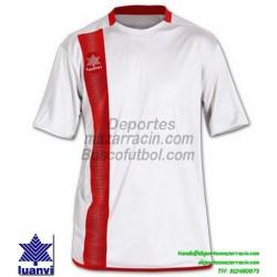 LUANVI CAMISETA RIVER Futbol color BLANCO Manga Corta talla equipacion hombre niño 06162-0002