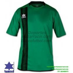 LUANVI CAMISETA RIVER Futbol color VERDE Manga Corta talla equipacion hombre niño 06162-0054
