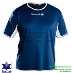 LUANVI CAMISETA PRO Futbol color AZUL MARINO Manga Corta talla equipacion hombre niño 05163-0133