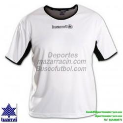 LUANVI CAMISETA PRO Futbol color BLANCO Manga Corta talla equipacion hombre niño 05163-0004