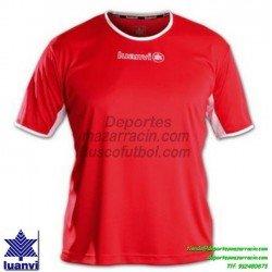 LUANVI CAMISETA PRO Futbol color ROJO Manga Corta talla equipacion hombre niño 05163-0022