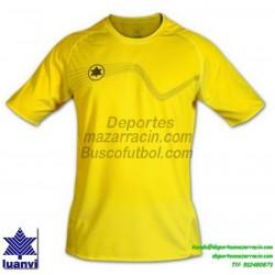 LUANVI CAMISETA STAR Futbol color AMARILLO Manga Corta talla equipacion hombre niño 05646-0033