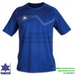 LUANVI CAMISETA STAR Futbol color AZUL ROYAL Manga Corta talla equipacion hombre niño 05646-0600