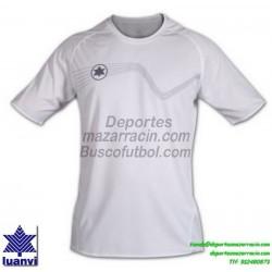 LUANVI CAMISETA STAR Futbol color BLANCO Manga Corta talla equipacion hombre niño 05646-0999