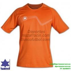 LUANVI CAMISETA STAR Futbol color NARANJA Manga Corta talla equipacion hombre niño 05646-0100