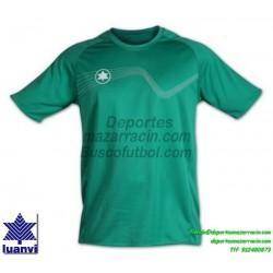 LUANVI CAMISETA STAR Futbol color VERDE Manga Corta talla equipacion hombre niño 05646-0055