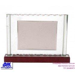 Placa de Homenaje cristal 97032 montaje chapa diferentes tamaños premio pallart grabado laser personalizado