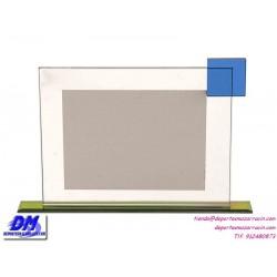 Placa de Homenaje cristal 97036 montaje chapa diferentes tamaños premio pallart grabado laser personalizado
