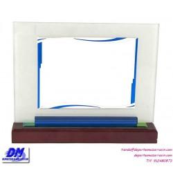 Placa de Homenaje cristal 97035 montaje chapa diferentes tamaños premio pallart grabado laser personalizado