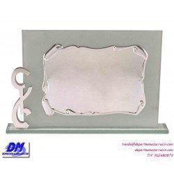 Placa de Homenaje cristal 97013 montaje chapa diferentes tamaños premio pallart grabado laser personalizado