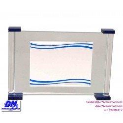 Placa de Homenaje cristal 97015 montaje chapa diferentes tamaños premio pallart grabado laser personalizado