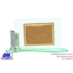Placa de Homenaje cristal 97029/1 montaje chapa diferentes tamaños premio pallart grabado laser personalizado