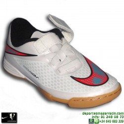 Nike HYPERVENOM phade niño VELCRO BLANCO 2015 neymar Isco zapatilla futbol sala infantil artificial IC personalizar 705424-148