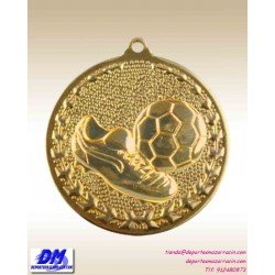 Medalla FUTBOL 29975-00 diametro 50mm oro plata bronce premio pallart grabado laser personalizada
