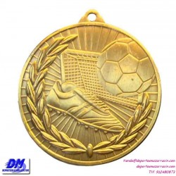 Medalla FUTBOL 29904-00 diametro 50mm oro plata bronce premio pallart grabado laser personalizada