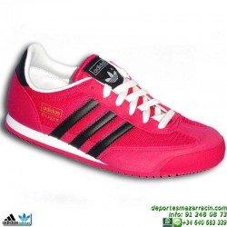 ADIDAS DRAGON ROSA-NEGRO zapatilla CHICA MUJER MODA sportwear retrorunning clasica M17076