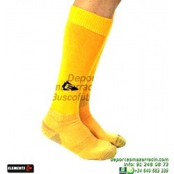 ELEMENTS PROTECNIC LISA MEDIAS Futbol color AMARILLO FLUOR equipacion deporte calcetin talla SOCK hombre niño 910104