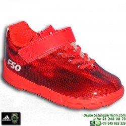Adidas F50 EL I BALE ROJO 2015 zapatilla futbol calle baby suela personalizar poner nombre numero bandera escudo