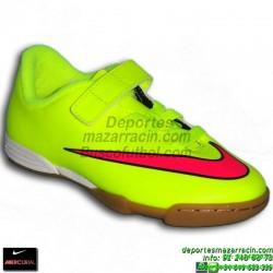 Nike MERCURIAL VORTEX 2 VELCRO NIÑO Cristiano Ronaldo AMARILLO 2015 zapatilla futbol sala JUNIOR IC personalizar 705216-760