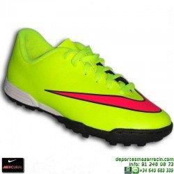 Nike MERCURIAL VORTEX 2 Cristiano Ronaldo NIÑO AMARILLO FLUOR zapatilla fútbol calle TF