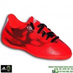 Adidas F50 F5 niño ROJO BALE JAMES 2015 zapatilla futbol SALA bota infantil suela IN Indoor personalizar nombre B40977